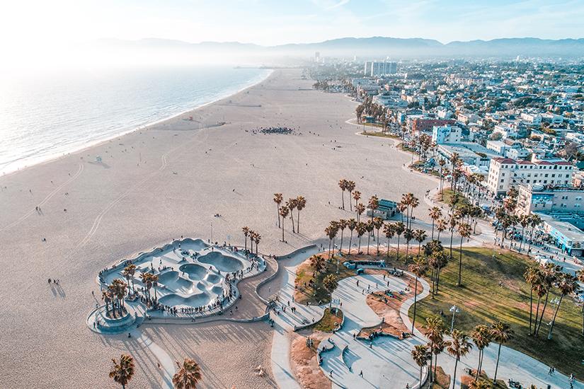 Venice Beach aus der Luft