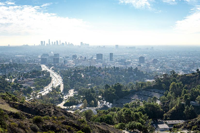 Aussicht von den Hollywood Hills