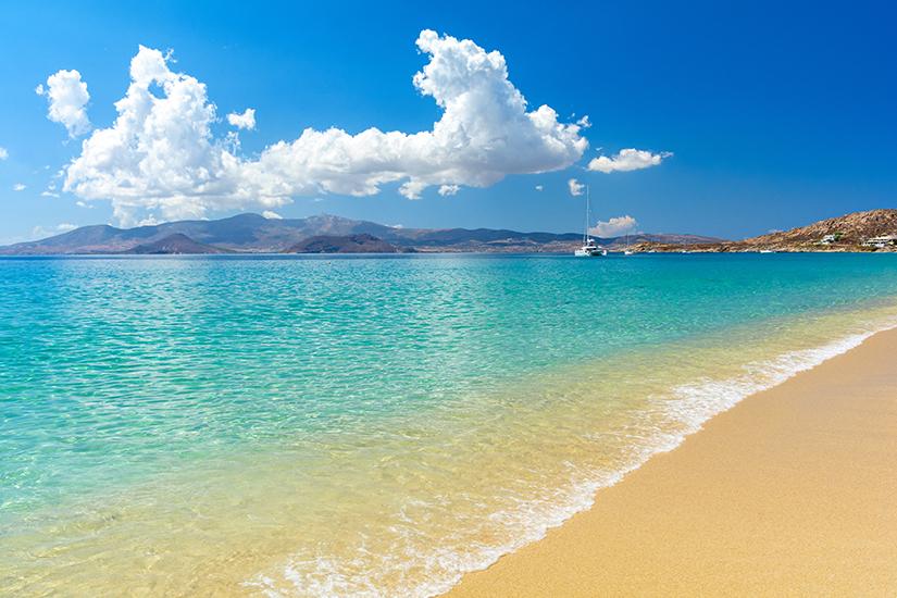 Sandstrand auf Naxos
