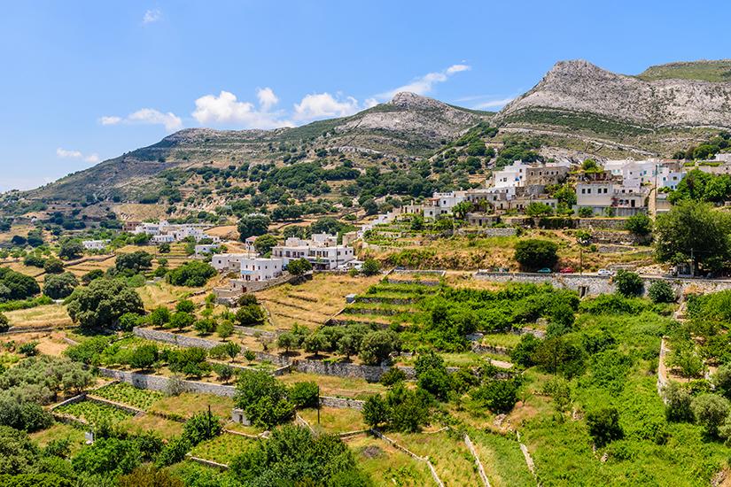 Apiranthos liegt am Berg Fanari