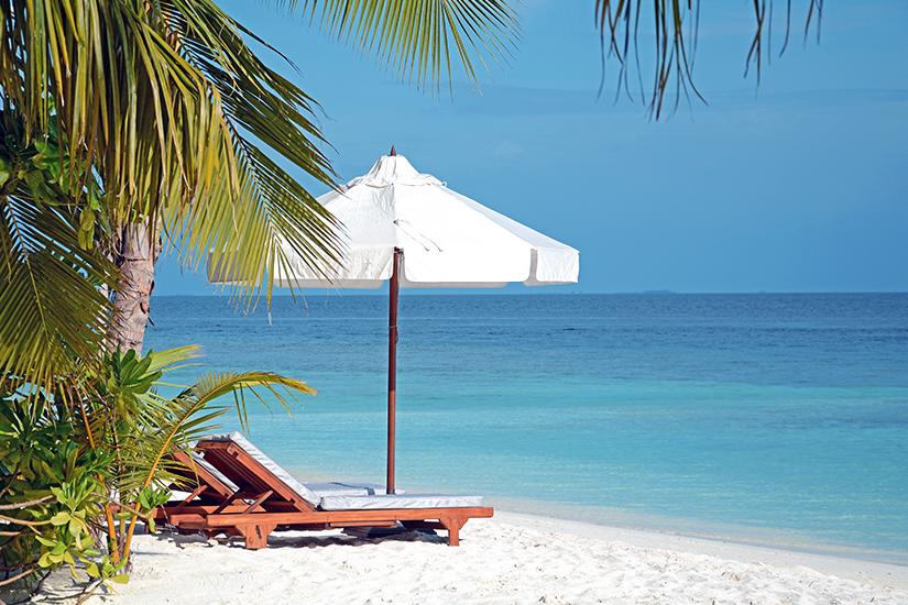 Strand auf Mirihi Island