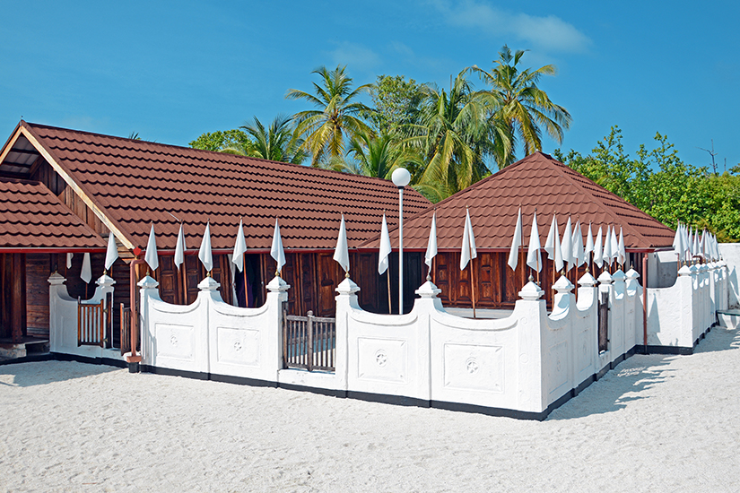Utheemu Ganduvaru Palast auf den Malediven