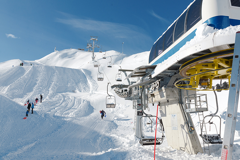 Skifahren bei Innsbruck