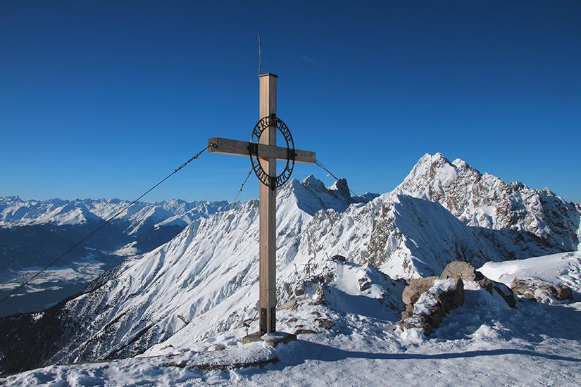 Hafelekarspitze in den Tiroler Alpen