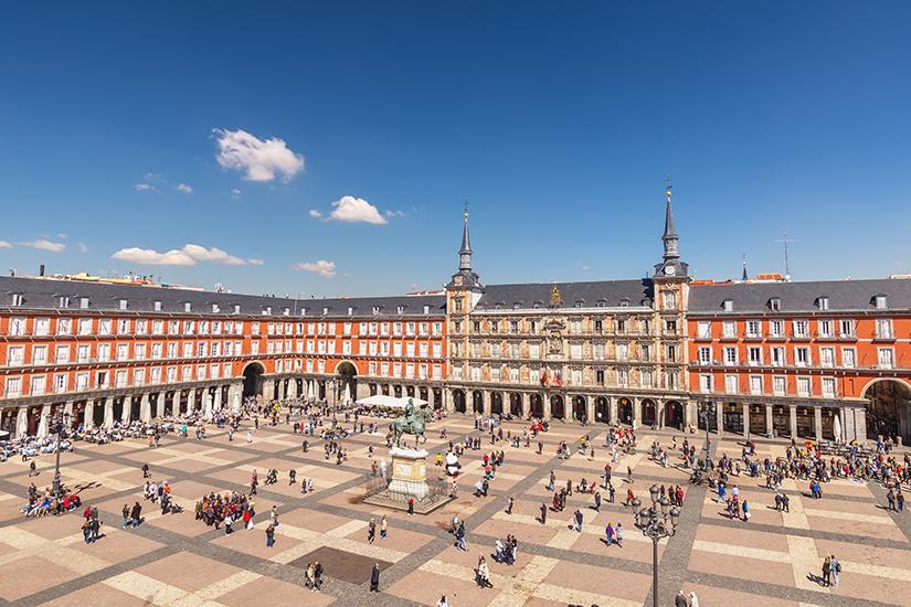 Plaza Mayor ist der bekannteste Platz in Madrid