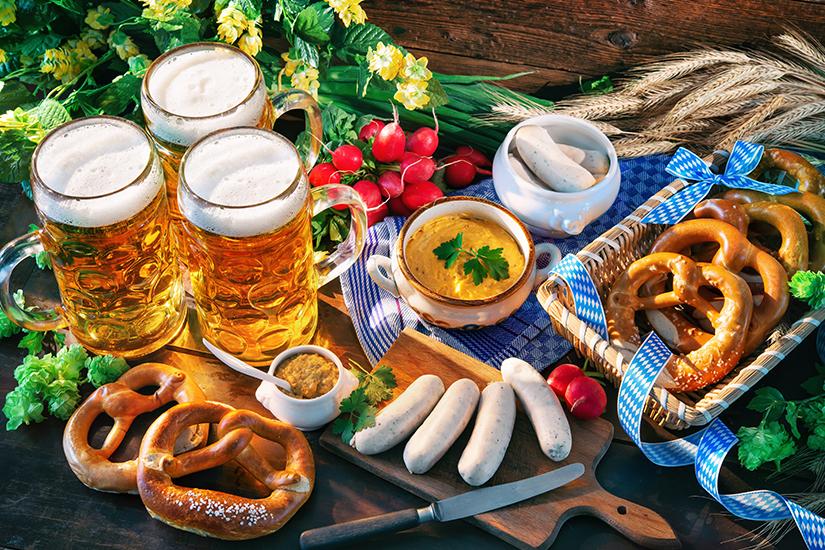 Typisch bayrische Brotzeit