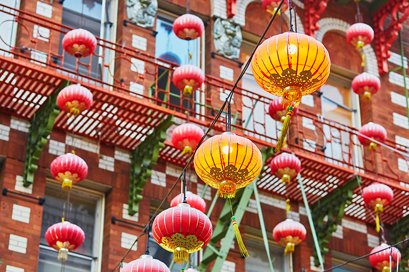 Rote Laternen in San Franciscos Chinatown