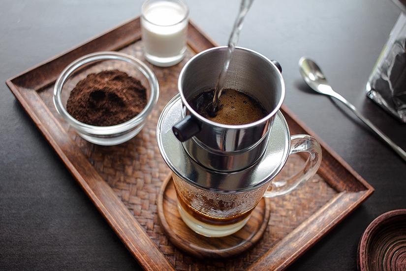 Vietnamesischer Kaffee mit Kondensmilch
