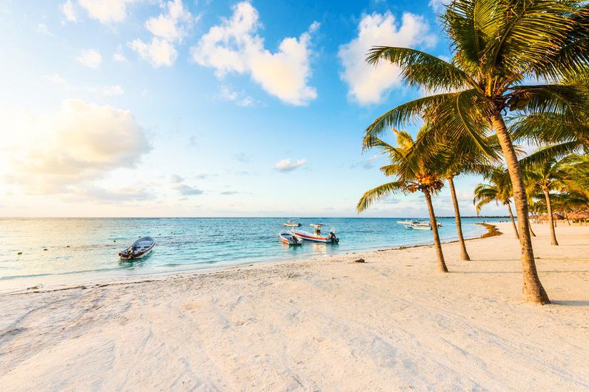 Sandstrand an der Riviera Maya