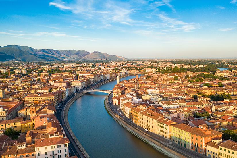 Pisa am Fluss Arno