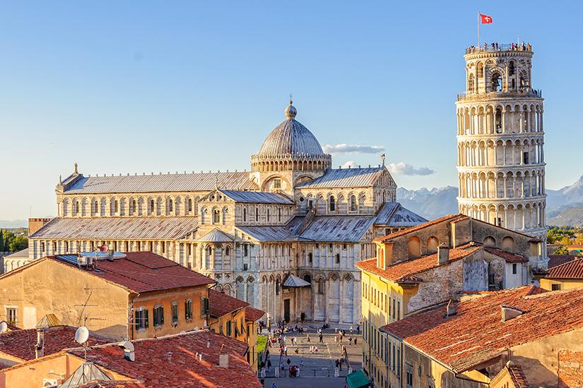 Blick auf den Dom und Schiefen Turm in Pisa