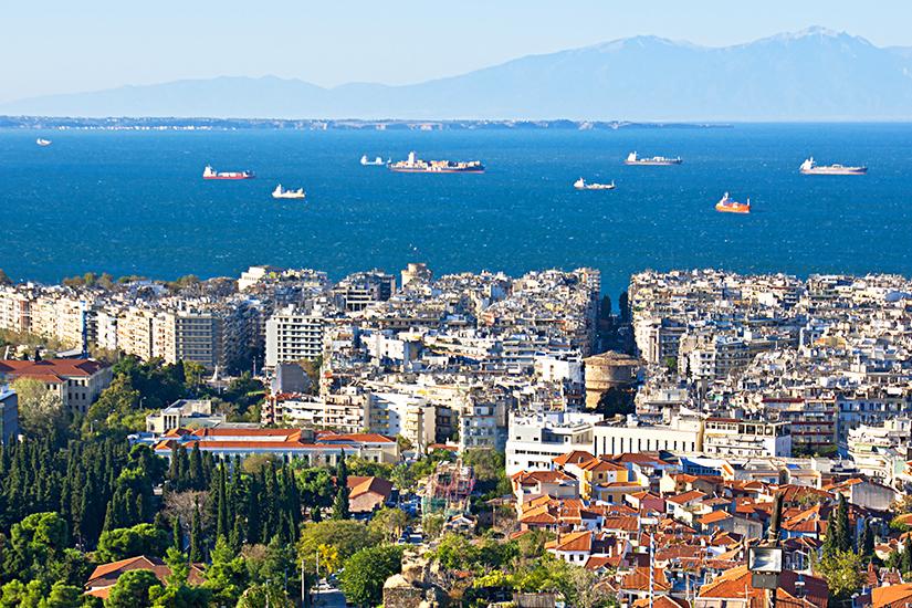 Kueste vor Thessaloniki