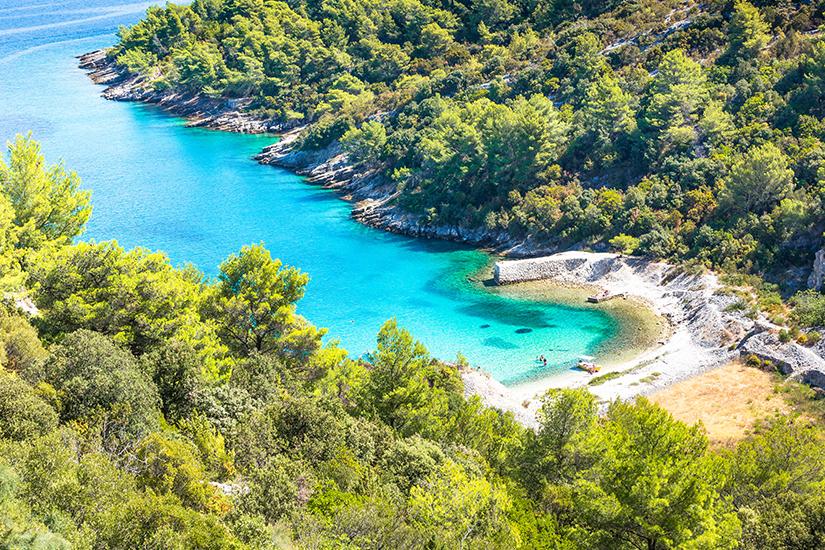 Bucht auf der Insel Brac