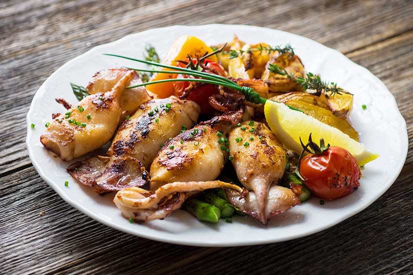 Gegrillter Tintenfisch aus der Adria