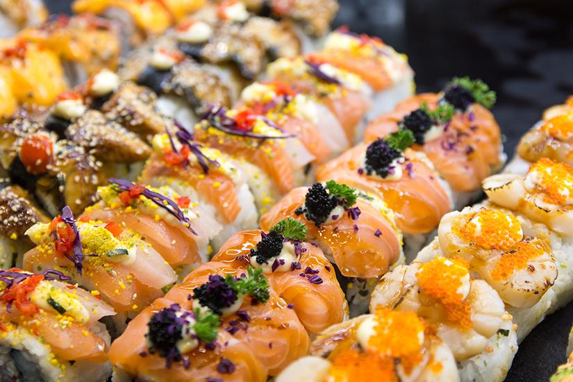 Frisches Sushi auf dem Sydney Fish Market