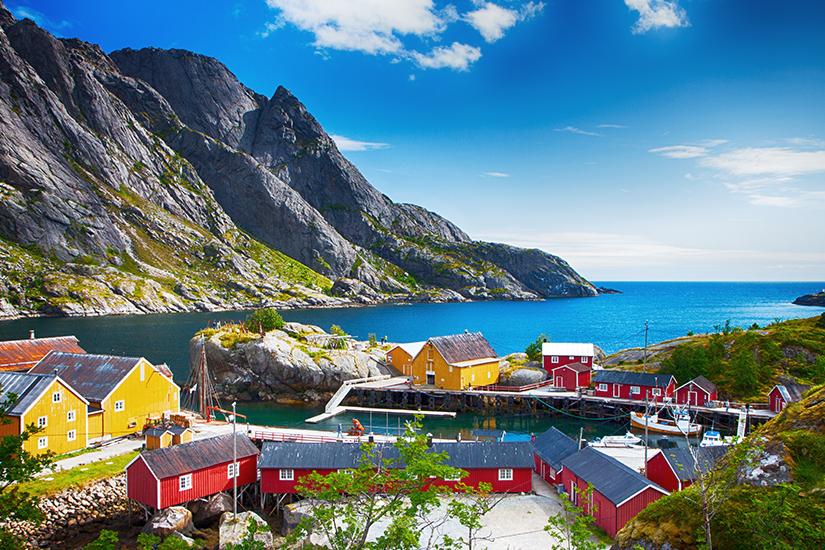 Fischerhuetten in Nusfjord