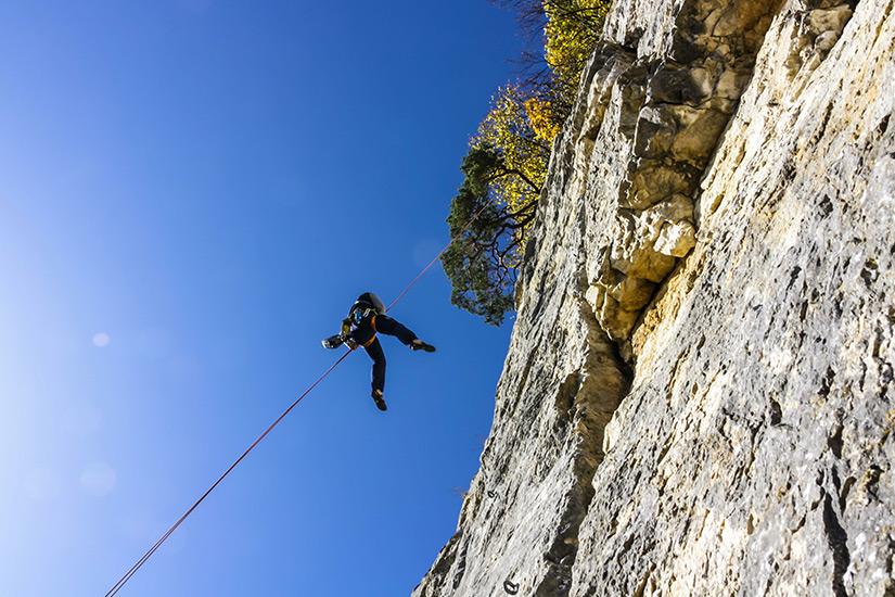 Klettern im Jura-Gebirge bei Basel
