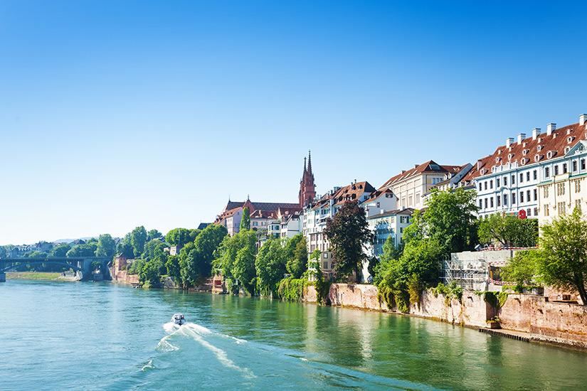 Basel an einem Sommertag