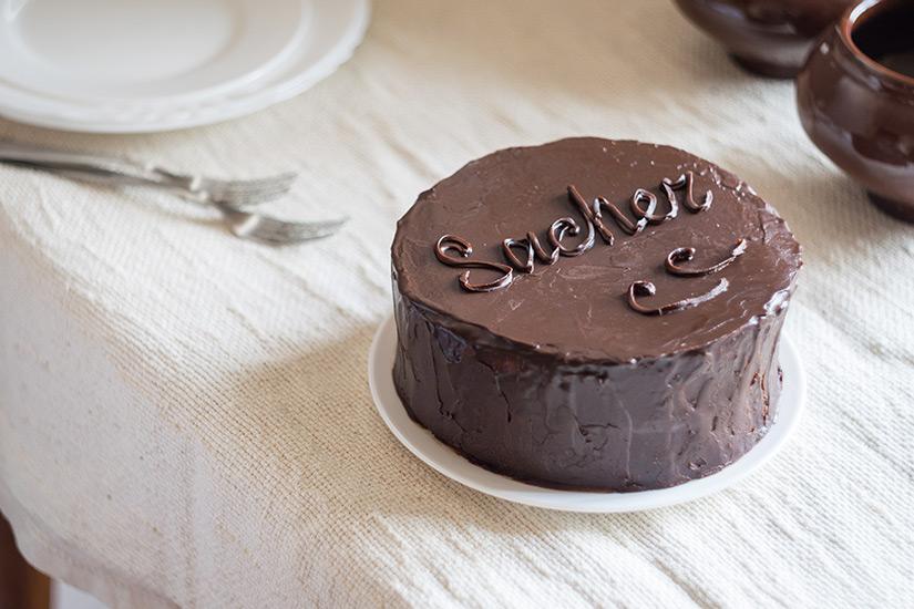 Sachertorte mit Schokolade