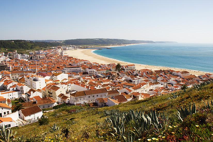 Sommertag im portugiesischen Nazare