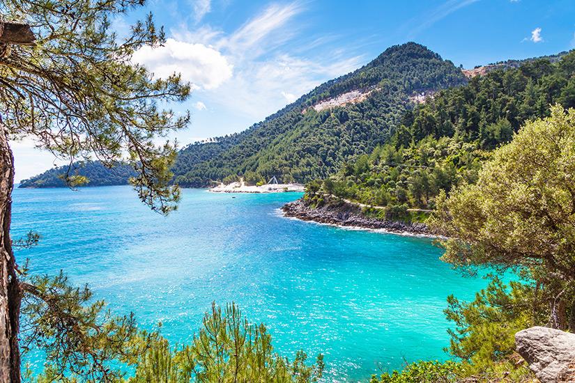 Kueste vor Thassos in Griechenland