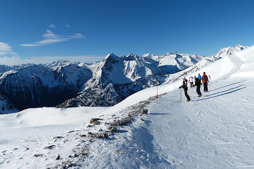 Wintersport in den Pyrenaeen