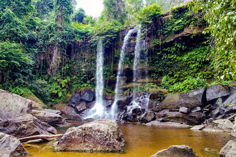 Wasserfall-Nationalpark-Phnom-Kulen