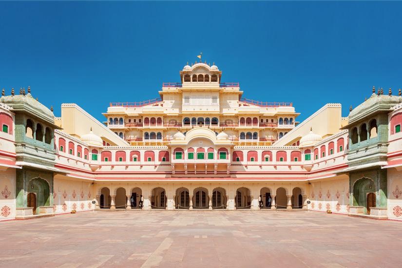 Innenhof des Jaipurer Stadtpalastes