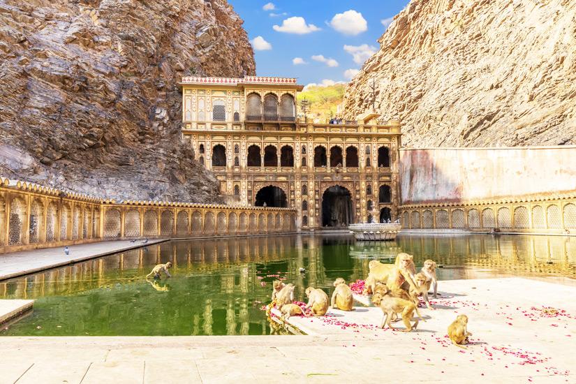 Galtaji Tempel in Jaipur