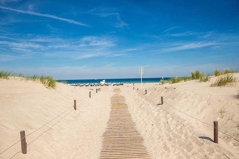 Strandaufgang in Warnemuende