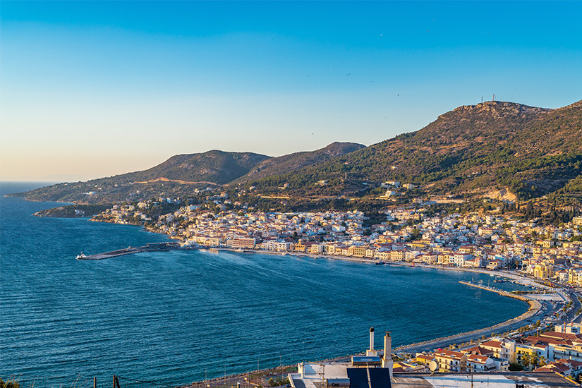 Blick auf die Insel Samos