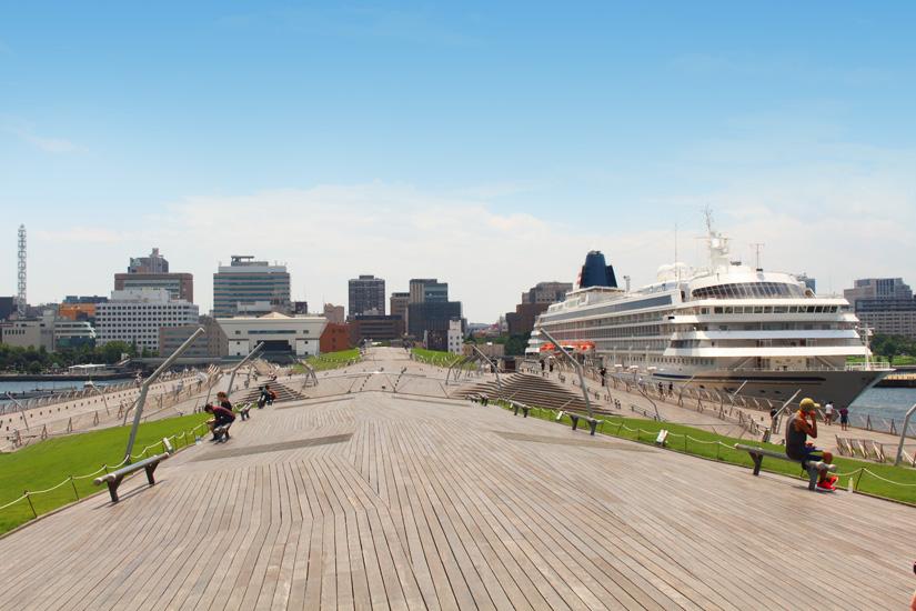 Osanbashi Pier in Yokohamas Hafenviertel
