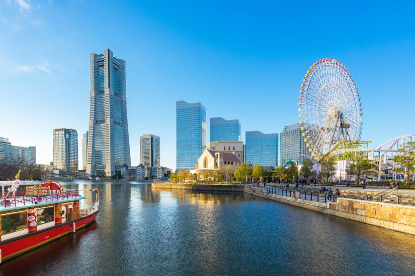 Beeindruckende Skyline von Yokohama