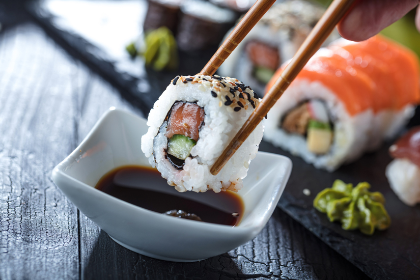 Typisch japanisches Sushi