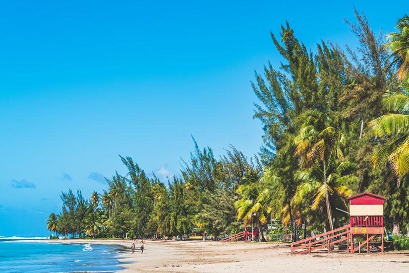 Beliebter Monserrate Beach auf Puerto Rico