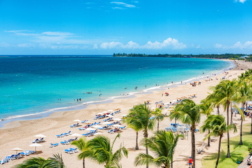 Strand in San Juan, Puerto Rico