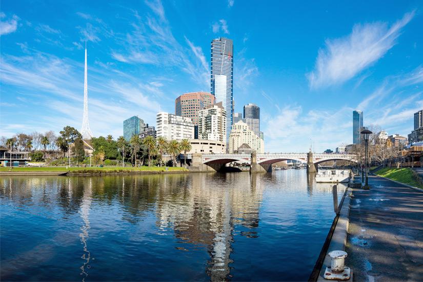 Melbournes Eureka Tower mit Skydeck