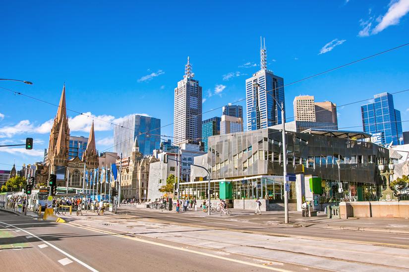 Zentraler Federation Square in Melbourne