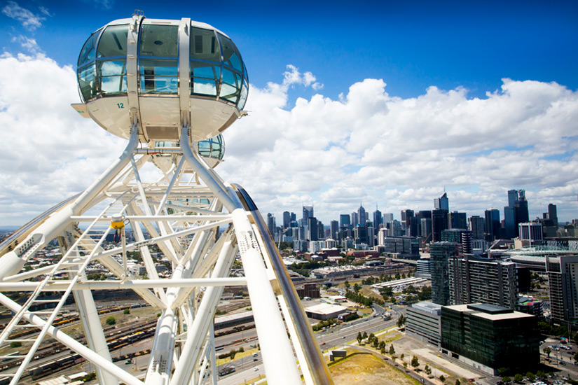 Trendiges Virtel Docklands in Melbourne