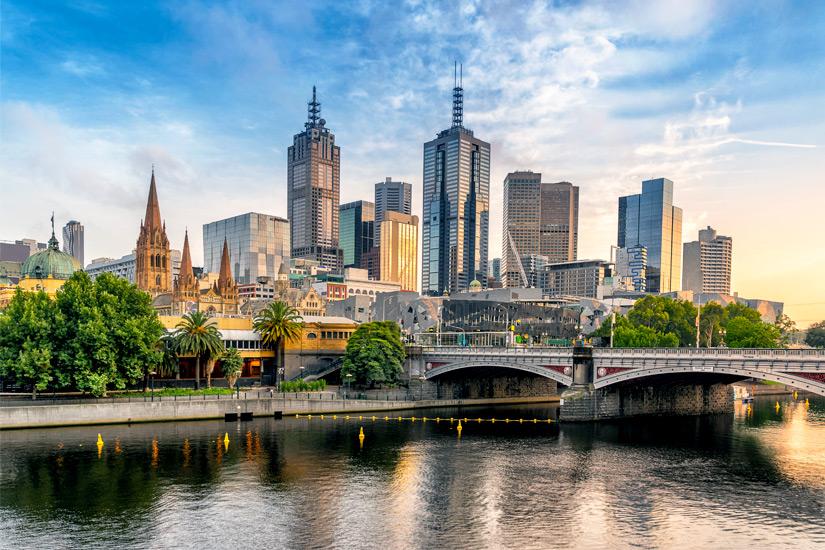 Stadtansicht von Melbourne