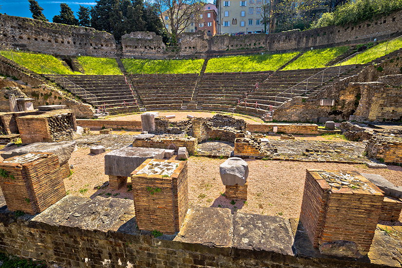 Roemisches Amphitheater in Triest