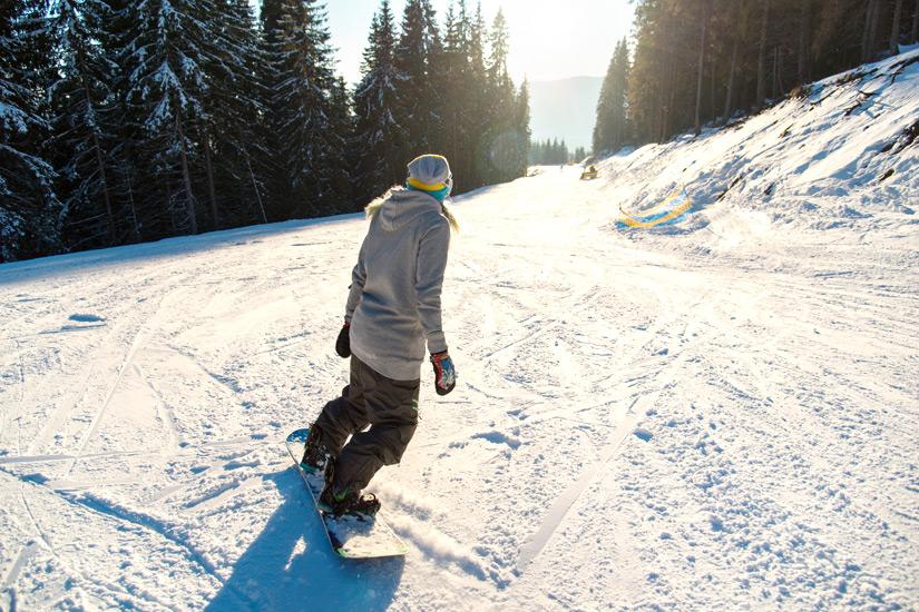 Snowboarden in Finnland