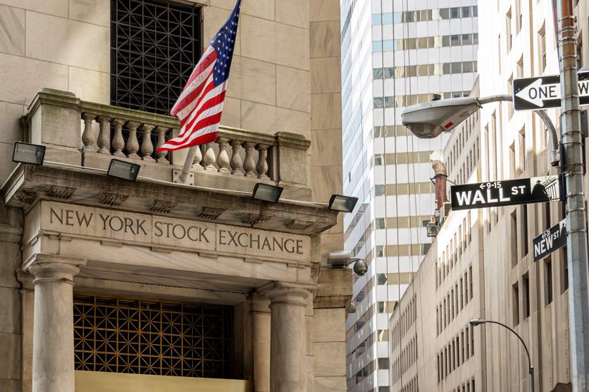 Wolkenkratzer in der Wall Street
