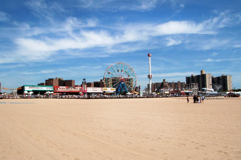 Sandstrand auf Coney Island