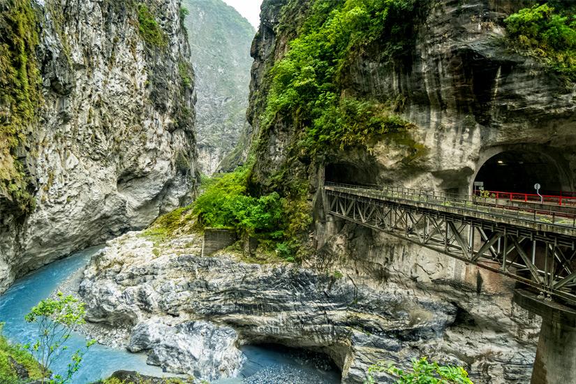 Fluss Liwu in der Taroko Schlucht