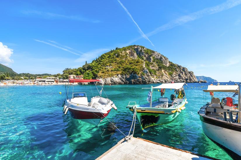 Touren mit dem Moterboot auf Korfu