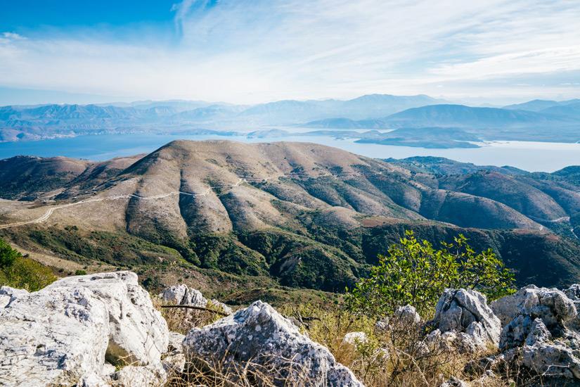 Berg Pantokrator auf Korfu