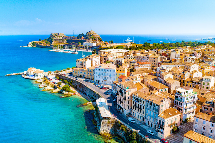 Die Stadt Kerkyra auf Korfu