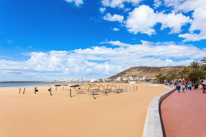Strandpromenade in Agadir