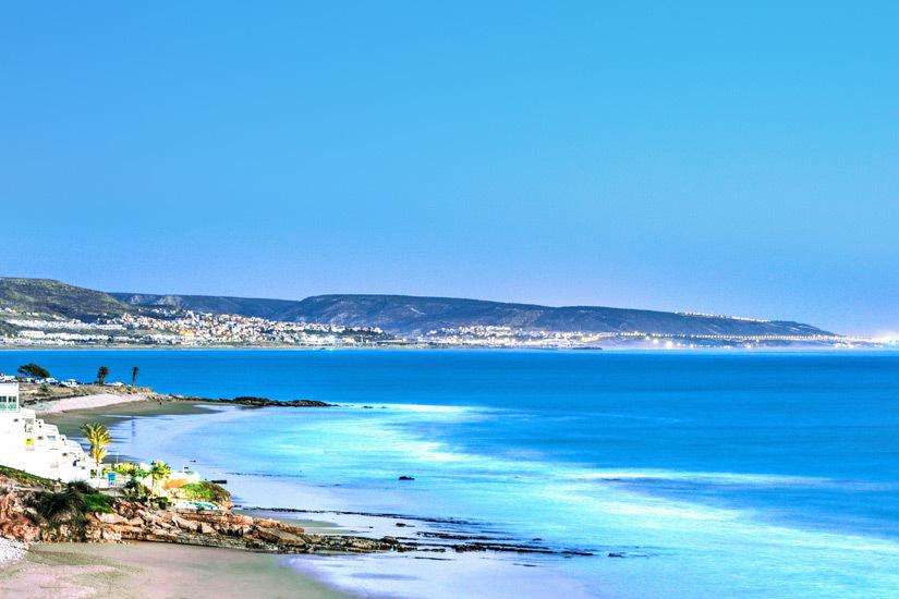 Blick auf Kueste vor Agadir